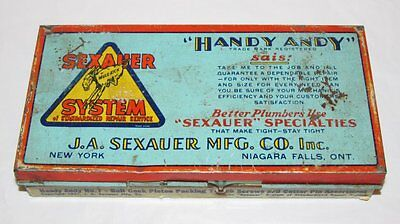 Vintage Handy Andy No 7 Sexauer Plumbers Metal Advertising Tin Box 1931 New York