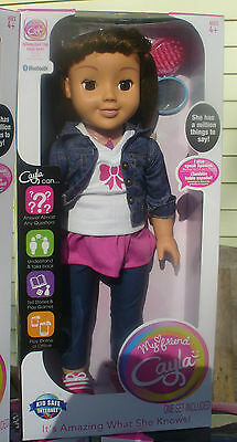 My Friend Cayla Doll, Brown Hair  Interactive Talking Bluetooth Doll sealed new