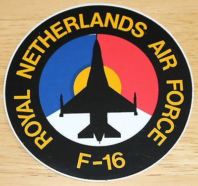 Old Royal Netherlands Air Force F-16 Sticker