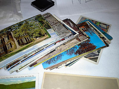 Lot of 70 Vtg. Post Cards Cities Countries and Landmarks 1940's to 60's & 70's