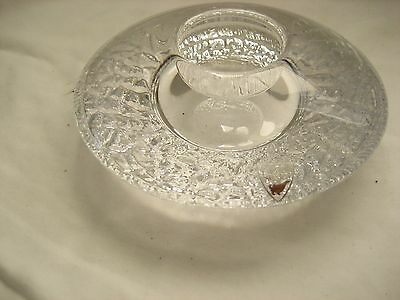Orrefors Crystal Disc style Votive Glass Candle Holder