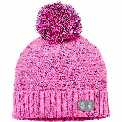 Girl's Under Armour Beanie, Speckle Beanie, Infrared Lining, New with Tags