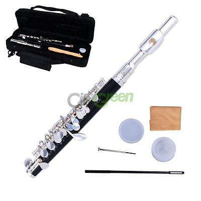 New Silver Cupronickel C Piccolo with Case Cloth Lubricant