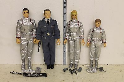 Lost In Space Figure set of 4 Will and Judy Robinson Don West and Dr Smith LOOSE