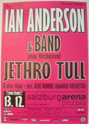 Ian Anderson Concert Tour Poster 2006 Jethro Tull