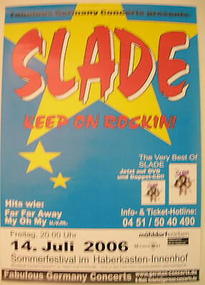 Slade Concert Tour Poster 2006 The Very Best Of Slade