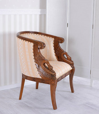 Mahogany Chair Wood Carvings Chair Gilt  Armchair Armchair Upholstered Chair