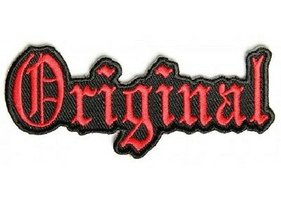 Lot Of 2 - Original Red Embroidered Biker Patch