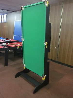 New  6Ft Foldable  Pool  Table Green Felt Include Accessories