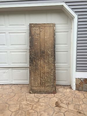 Antique Primitive 1800's Barn Or Cellar Door Great Old Paint Salvaged