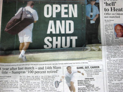 Pete Sampras Retires - August 26, 2003