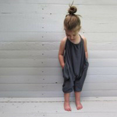 Baby Condole Belt Jumpsuits Soft Cotton & Linen Crawl Casual Onepiece Black