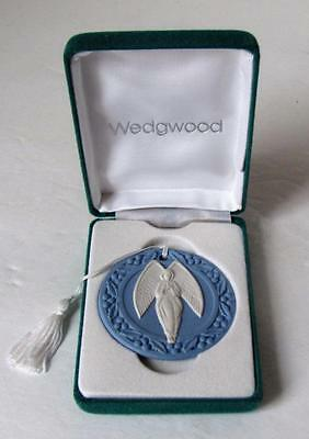 1998 Wedgwood Jasperware Angel Disc Christmas Ornament Boxed