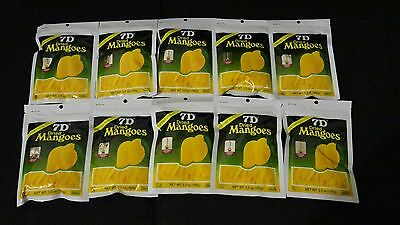 10 X 100 Grams 7D Dried Mango Fruit Snack Philippines Product Mangoes Brand New