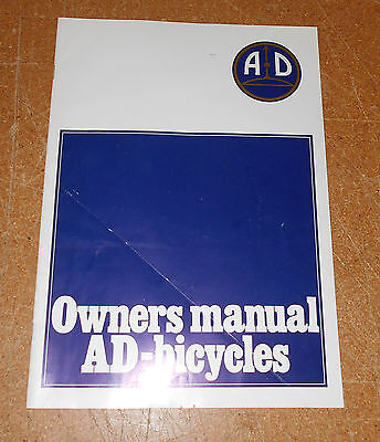 Vintage AD Bicycles Owners Manual Austro Daimler