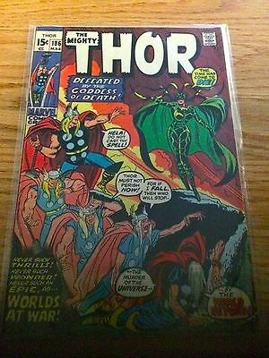 Thor 1962-1996 1st Series  #186 VG Cond A great book
