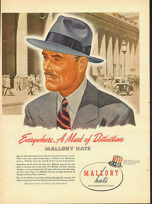 1945 Vintage ad for Mallory Hats~Victory Bonds (081413)