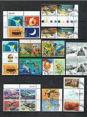 Selection Of Australian Cto Decimal Stamps Blocks And Se-Tenants.