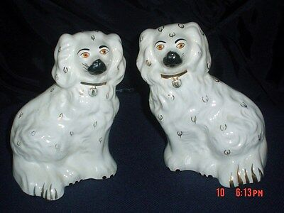 Beswick Pair Mantel Piece Spaniel Dogs Old English Dogs Model No. 1378-6