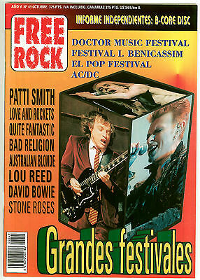Free Rock 49 - Patti Smith Ac/dc Hamlet Bowie Iggy Pop Lou Reed - Spain Oct 1996