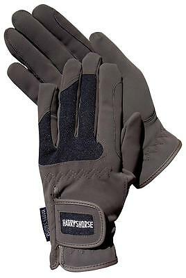 Harry's Horse Brown Domy Suede Gloves with Mesh - Small