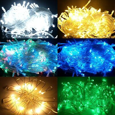 200 300 500 LED String Fairy Lights Wedding Xmas Christmas Party