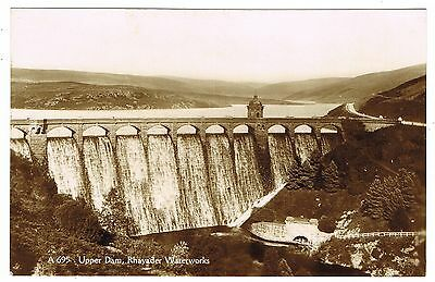 Early Real Photo Postcard - Upper Dam Rhayader Waterworks - Radnorshire Wales