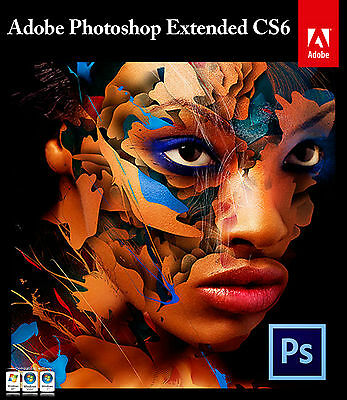 Adobe Photoshop CS6 Extended PC Professional Image Editing Software