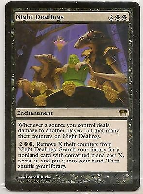 MtG Champions of Kamigawa - Night Dealings x 4