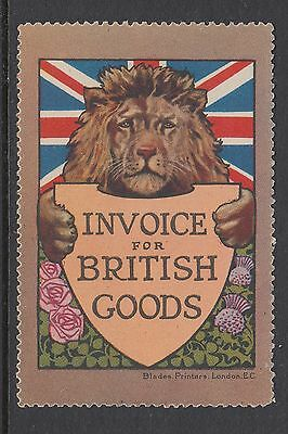 Invoice For British Goods - Lion - Flag - Cinderellas