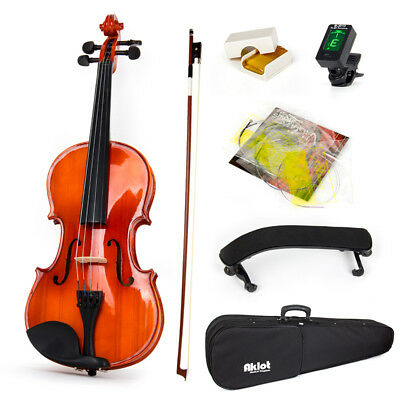 Violin Acoustic Fiddle Musical Instrument Case Bow Shoulder Rest  4/4 Full Size