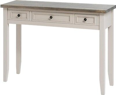 Hill Interiors Studley Collection 3 Drawer Console Table Sideboard | Grey Wood