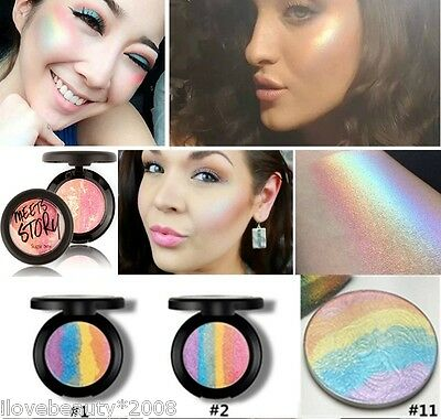 Glow Waterproof Mineralize Shimmer Makeup Rainbow Highlighter Powder Palette