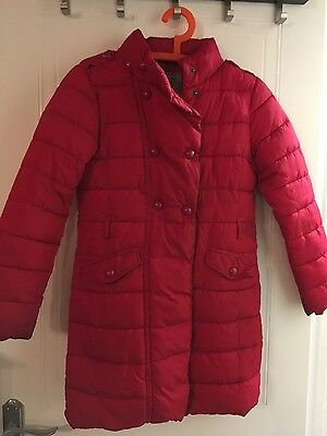 Next girls long coat age  11-12 vgc