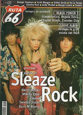 RUTA 66 MAGAZINE 158 february 2000 SLEAZE ROCK HANOI ROCKS MOTLEY CRUE - SPAIN