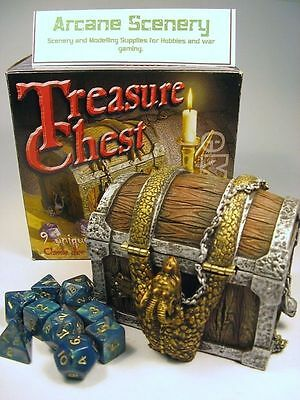 TREASURE CHEST Resin Dice box & Dice Gaming Accessory