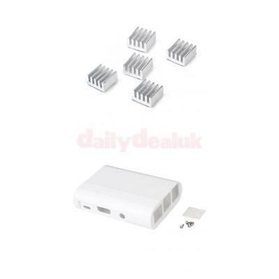 Enclosure Case Shell Box+ 5Pcs Heat Sink for Raspberry Pi B+/ Raspberry Pi 2