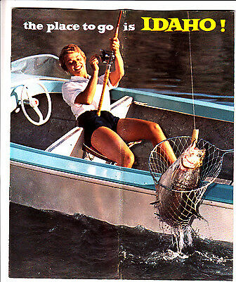 The Place To Go Is Idaho! Vintage Tourist Booklet Color Photos