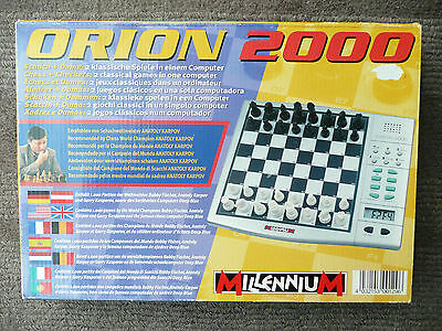 Super Millenium Orion 2000 Electronic Chess Game In Very Good Used Working Order