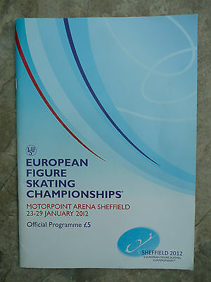 European Ice skating Championships programme Sheffield 2012