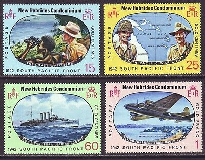 New Hebrides British 1967 SC 123-126 MNH Set WWII 25th Anniversary