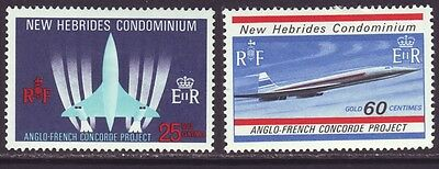 New Hebrides British 1968 SC 130-131 MH Set Concorde Airplane