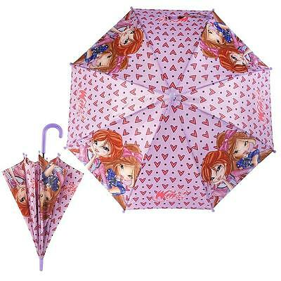 Winx Club - Children's umbrella automatic - Color pink