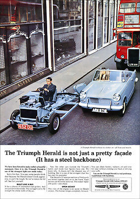 Triumph Herald Convertible Retro A3 Poster Print From 60's Advert