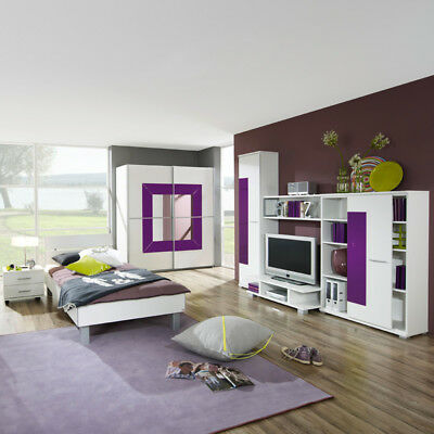 kinderzimmer jugendzimmer wei brombeer jugendbett. Black Bedroom Furniture Sets. Home Design Ideas