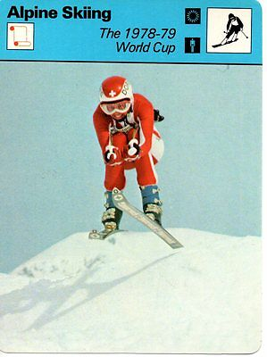 Sportscaster Rencontre Card - Alpine Skiing - The 1978-79 World Cup