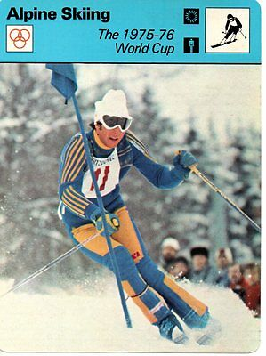 Sportscaster Rencontre Card - Alpine Skiing - The 1975-76 World Cup