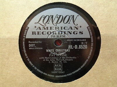 PAT BOONE - White Christmas / Jingle Bells 78 rpm disc (A++)