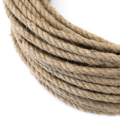 NATURAL JUTE ROPE twisted strand fibre decking sailing agriculture cord sash