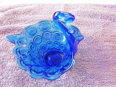Vintage Blue Swan Candy Dish